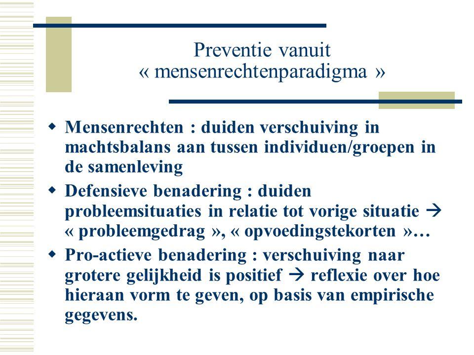 Preventie vanuit « mensenrechtenparadigma »