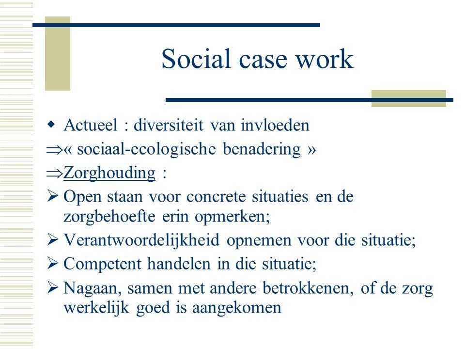 Social case work Actueel : diversiteit van invloeden