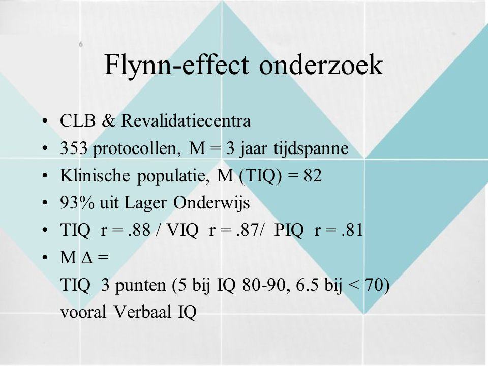 Flynn-effect onderzoek
