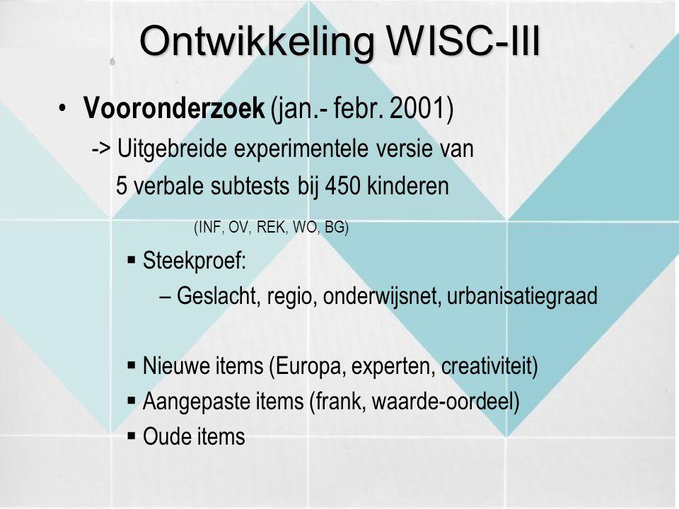 Ontwikkeling WISC-III