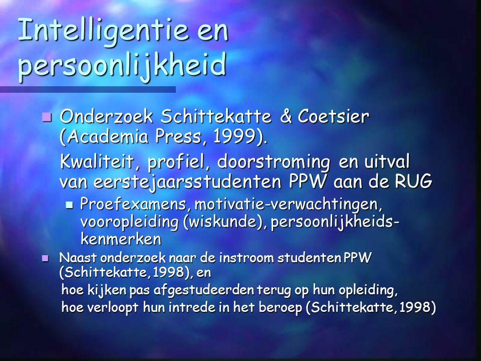 Intelligentie en persoonlijkheid