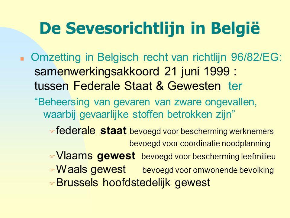 De Sevesorichtlijn in België