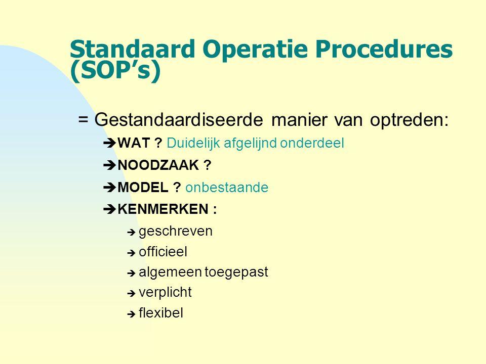 Standaard Operatie Procedures (SOP's)