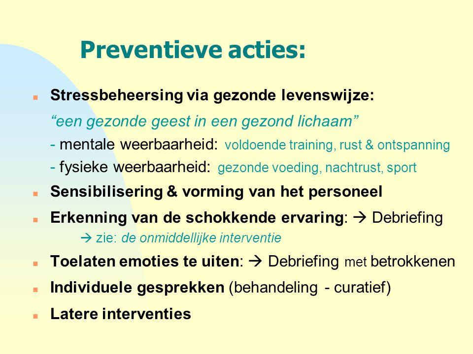 Preventieve acties: een gezonde geest in een gezond lichaam