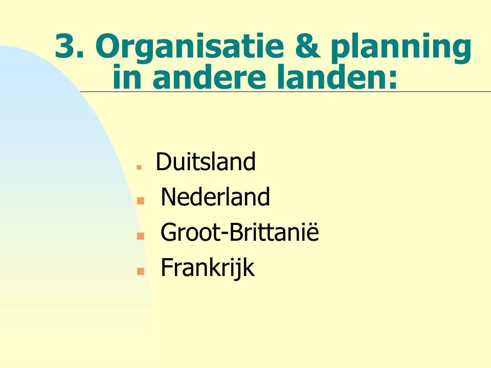 3. Organisatie & planning in andere landen: