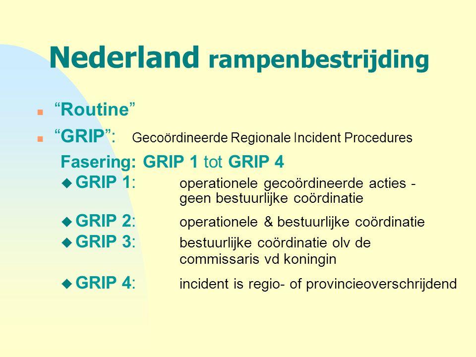 Nederland rampenbestrijding