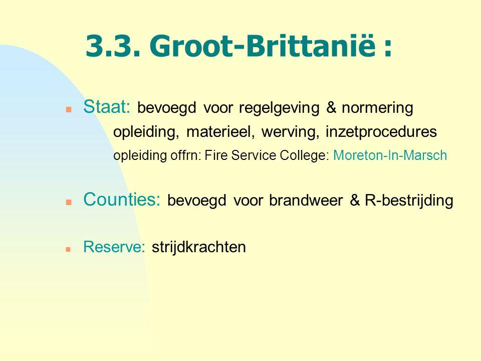3.3. Groot-Brittanië : Staat: bevoegd voor regelgeving & normering