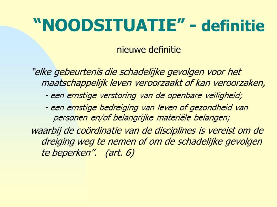 NOODSITUATIE - definitie nieuwe definitie