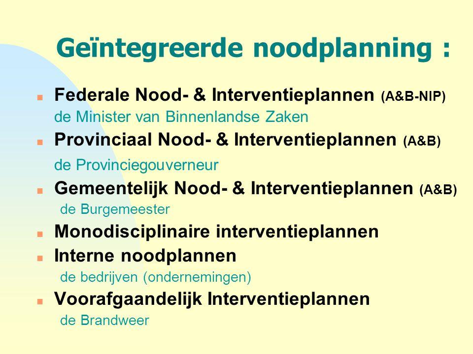 Geïntegreerde noodplanning :
