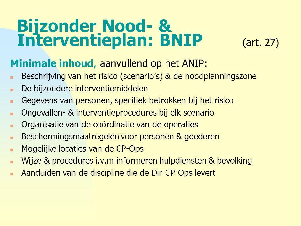 Bijzonder Nood- & Interventieplan: BNIP (art. 27)