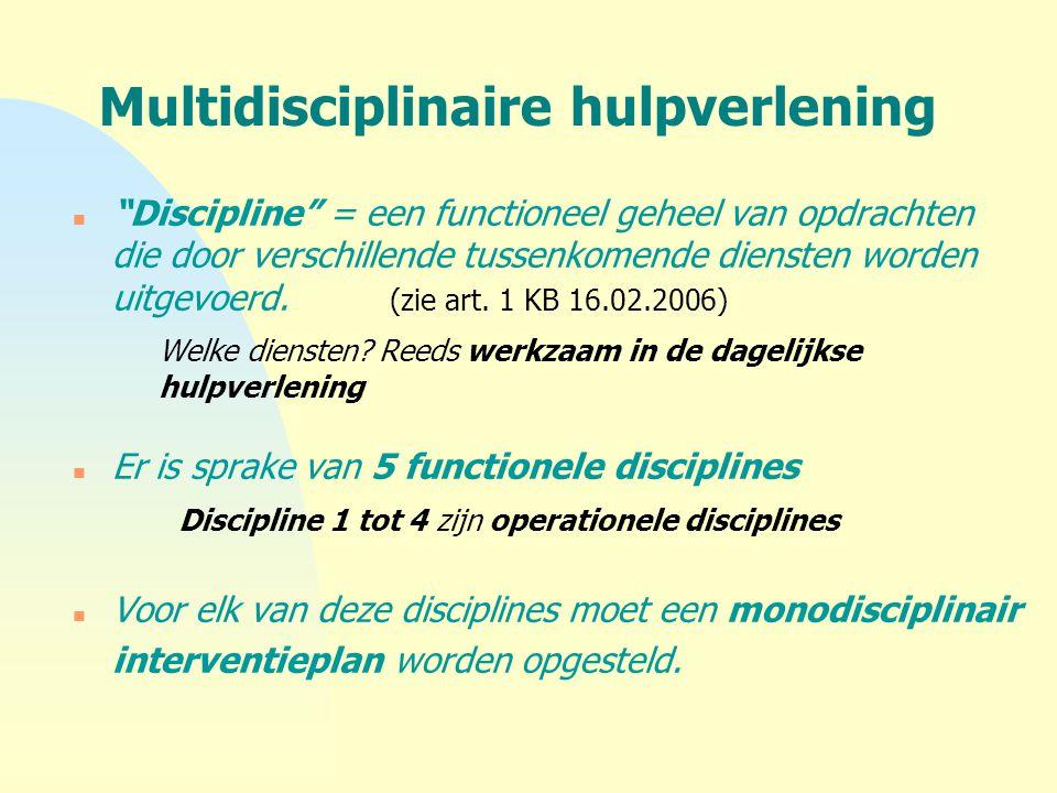 Multidisciplinaire hulpverlening