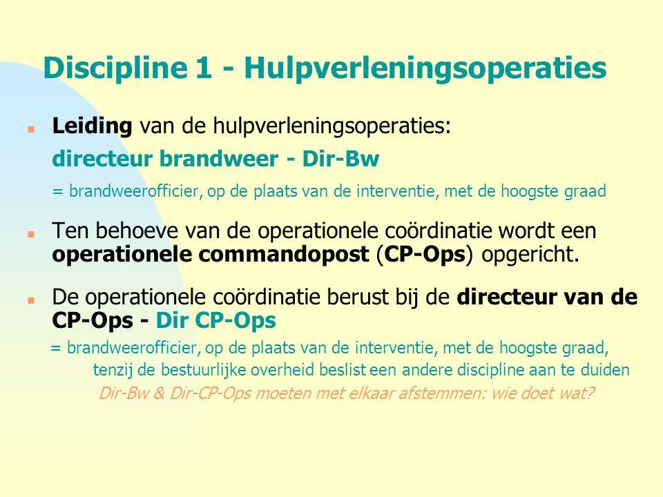 Discipline 1 - Hulpverleningsoperaties