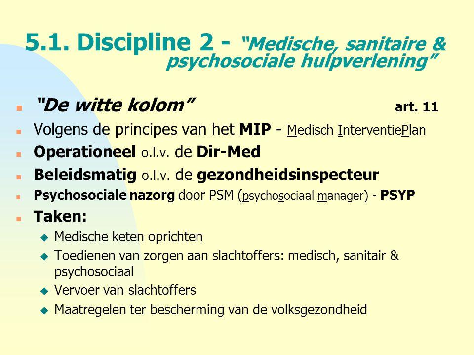 4-4-2017 5.1. Discipline 2 - Medische, sanitaire & psychosociale hulpverlening