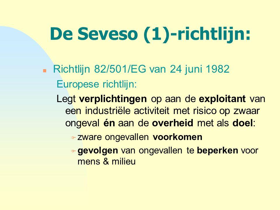 De Seveso (1)-richtlijn: