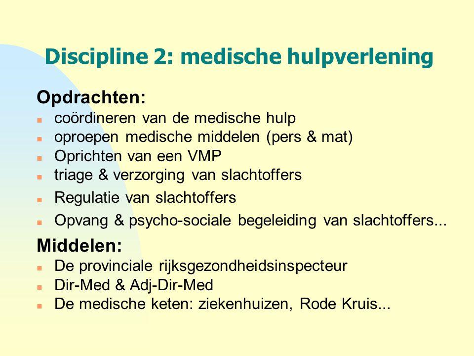 Discipline 2: medische hulpverlening