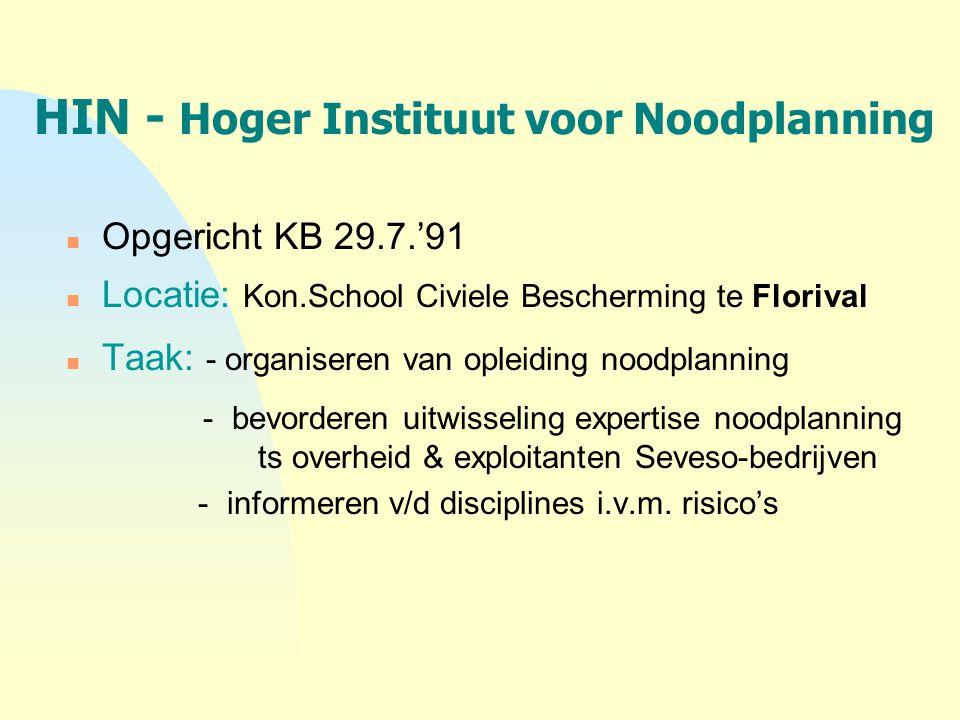 HIN - Hoger Instituut voor Noodplanning