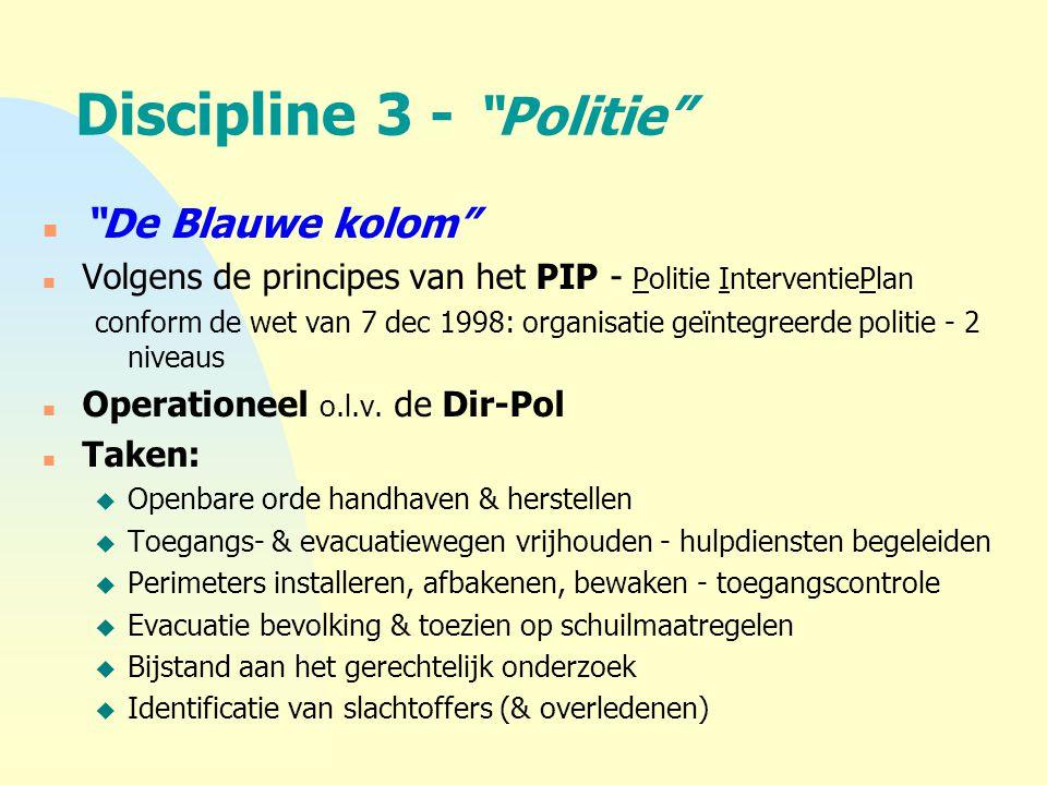 Discipline 3 - Politie