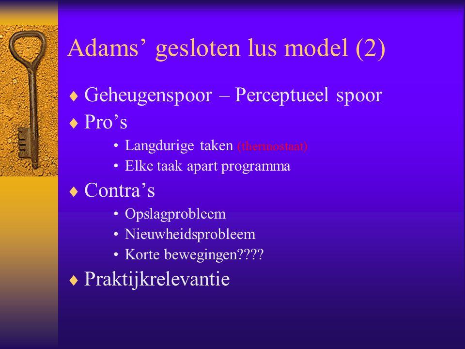 Adams' gesloten lus model (2)