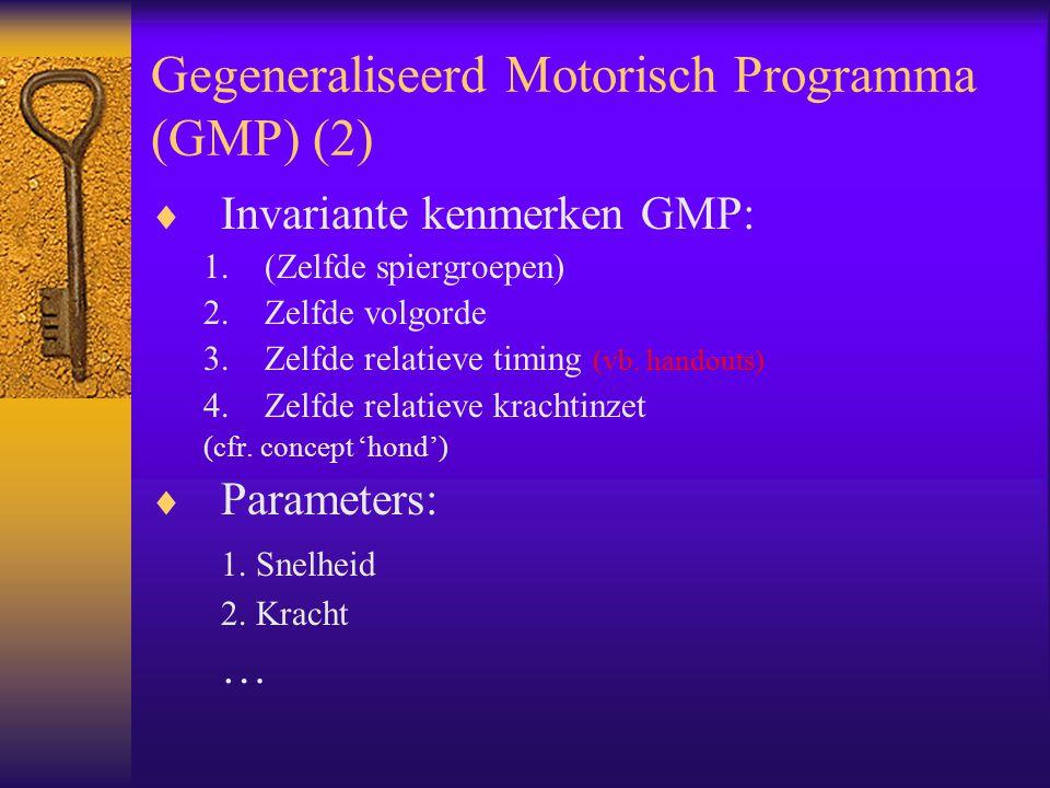 Gegeneraliseerd Motorisch Programma (GMP) (2)