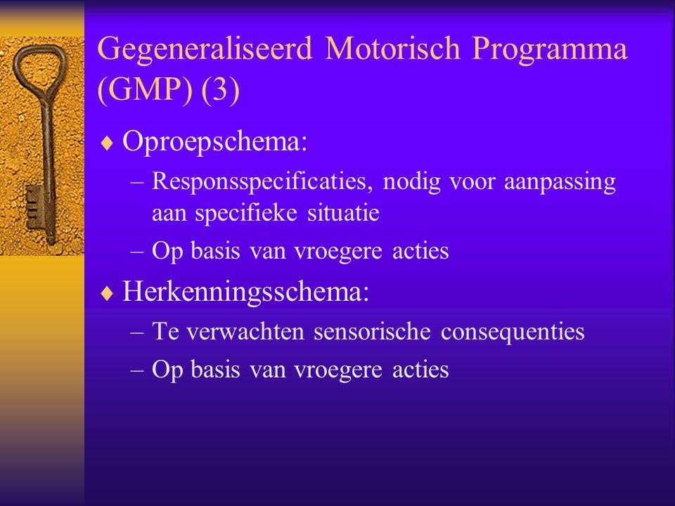 Gegeneraliseerd Motorisch Programma (GMP) (3)