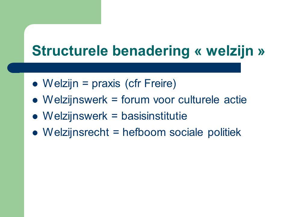 Structurele benadering « welzijn »