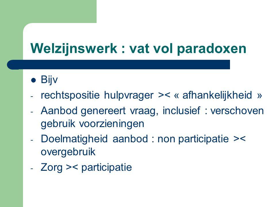 Welzijnswerk : vat vol paradoxen