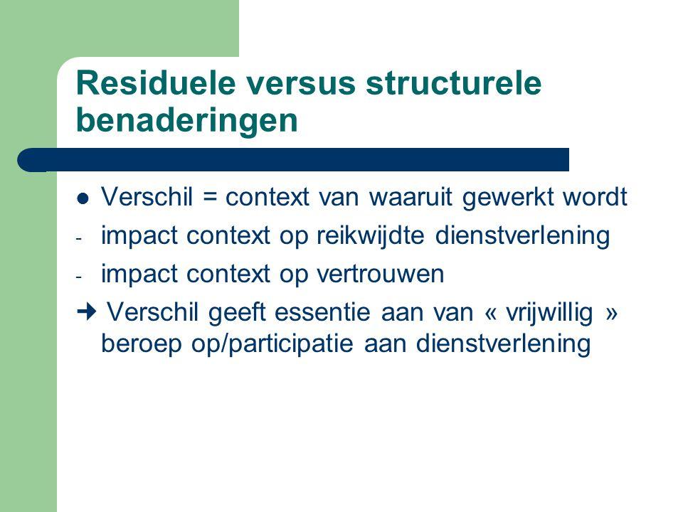 Residuele versus structurele benaderingen