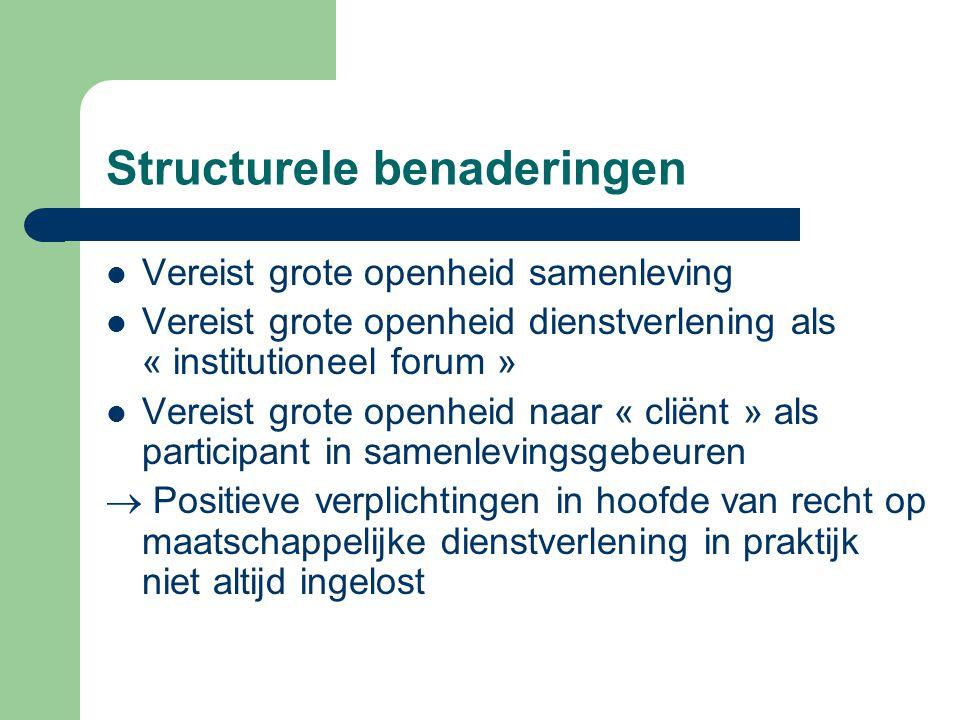 Structurele benaderingen