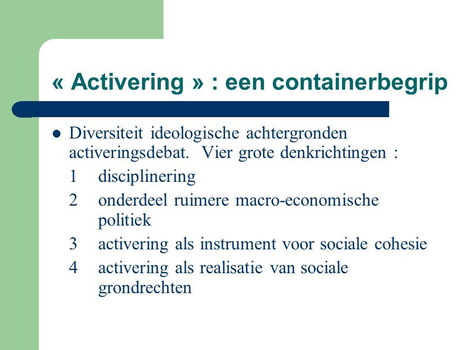 « Activering » : een containerbegrip