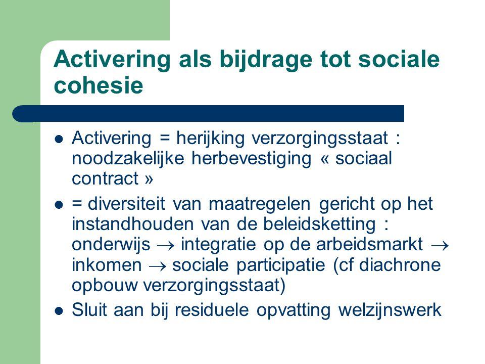 Activering als bijdrage tot sociale cohesie