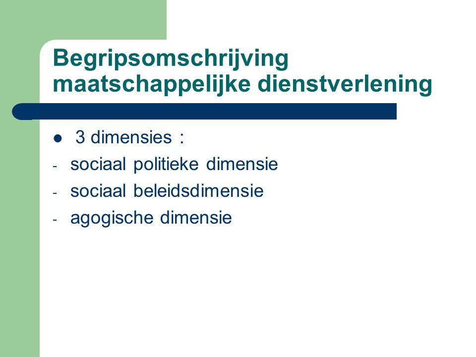 Begripsomschrijving maatschappelijke dienstverlening