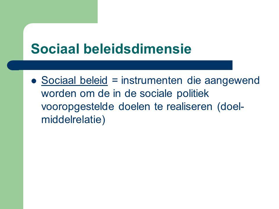 Sociaal beleidsdimensie