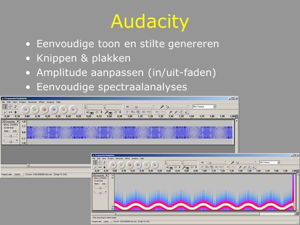 Audacity Eenvoudige toon en stilte genereren Knippen & plakken
