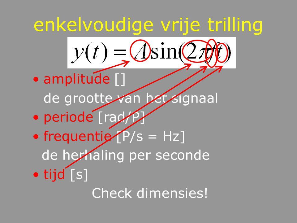 enkelvoudige vrije trilling