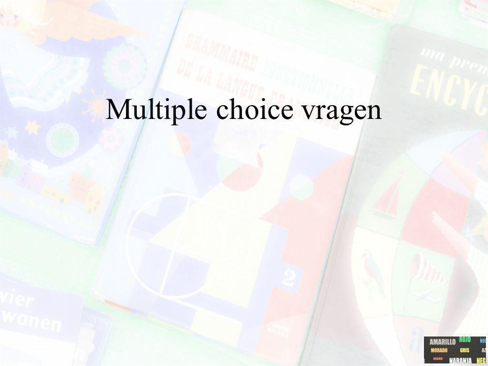 Multiple choice vragen