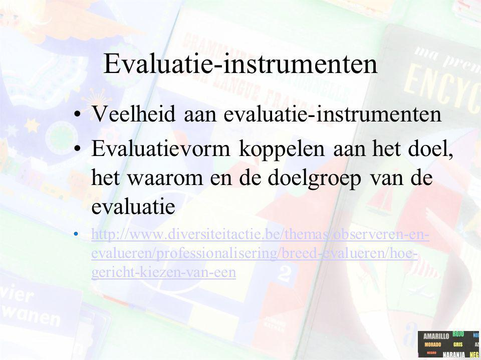 Evaluatie-instrumenten