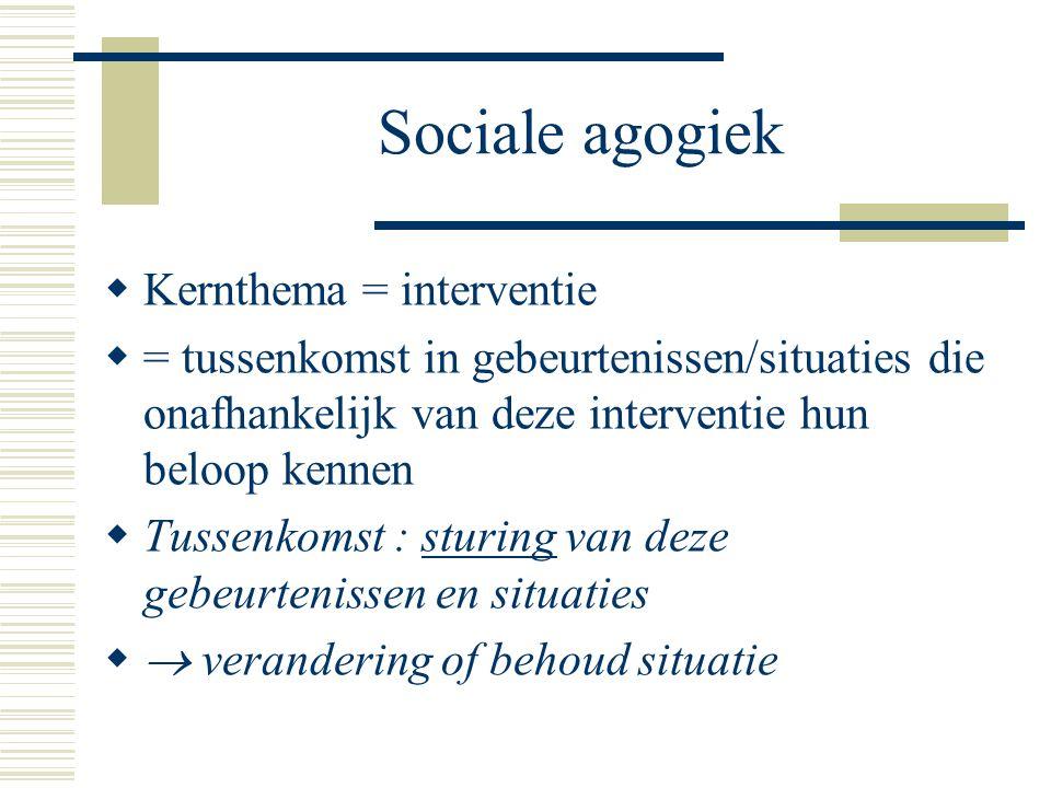 Sociale agogiek Kernthema = interventie