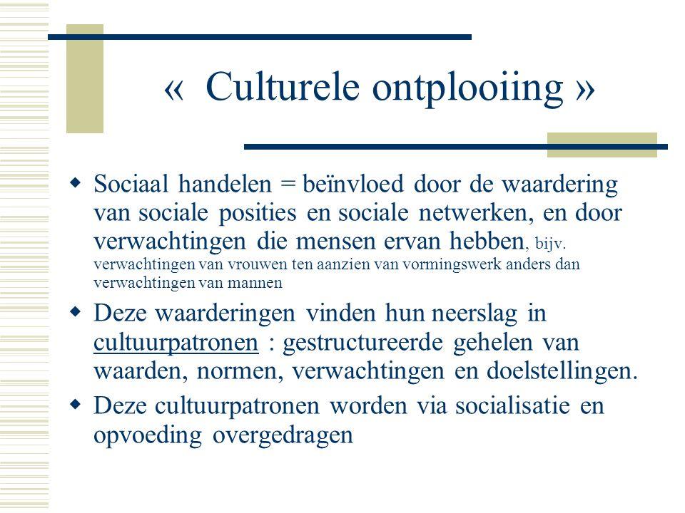« Culturele ontplooiing »