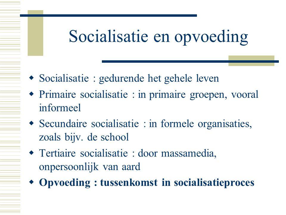 Socialisatie en opvoeding