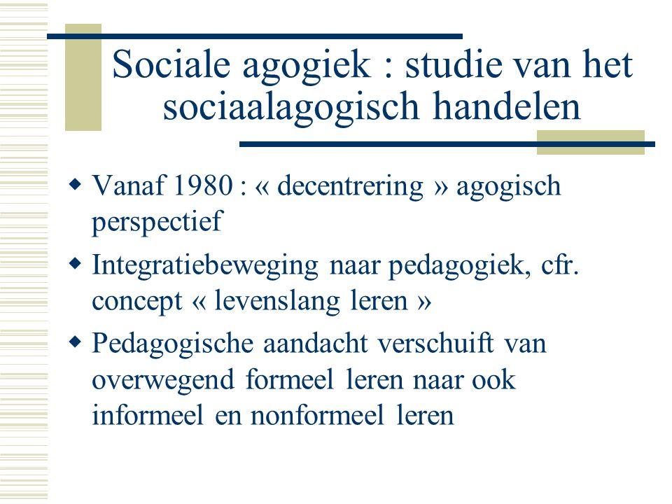 Sociale agogiek : studie van het sociaalagogisch handelen