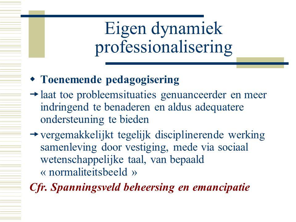 Eigen dynamiek professionalisering