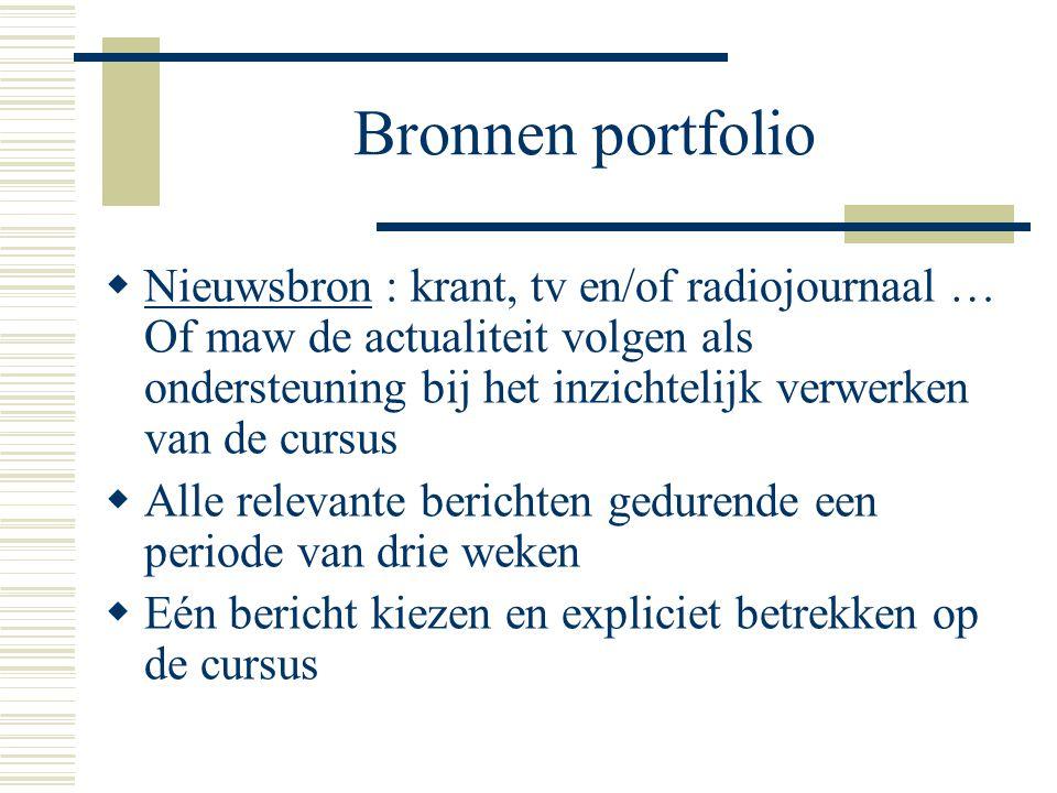 Bronnen portfolio