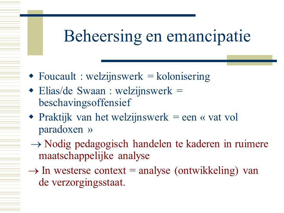 Beheersing en emancipatie