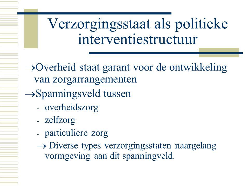 Verzorgingsstaat als politieke interventiestructuur