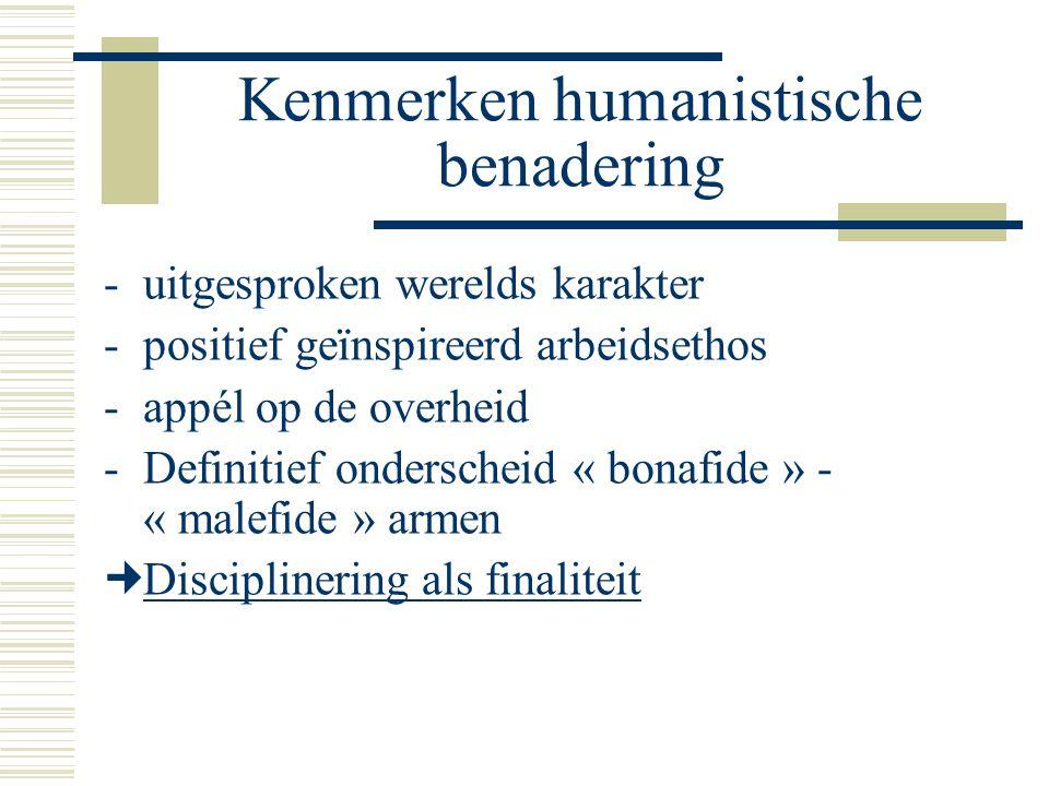 Kenmerken humanistische benadering