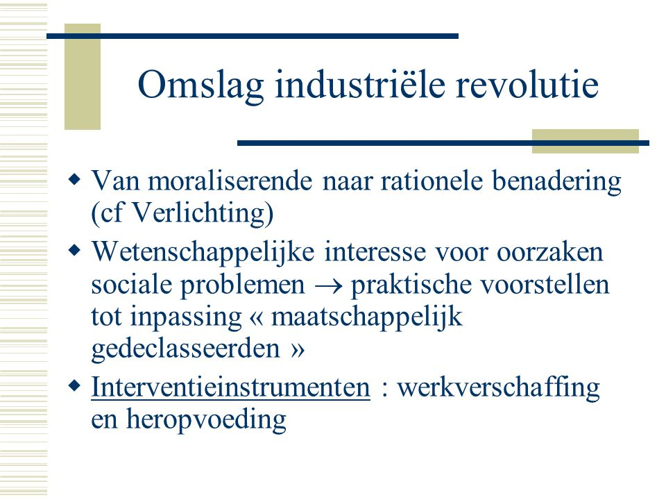 Omslag industriële revolutie