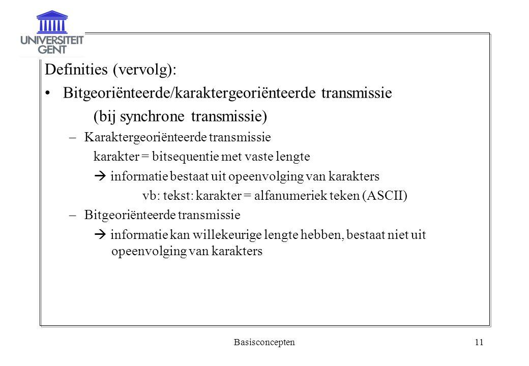 Definities (vervolg):