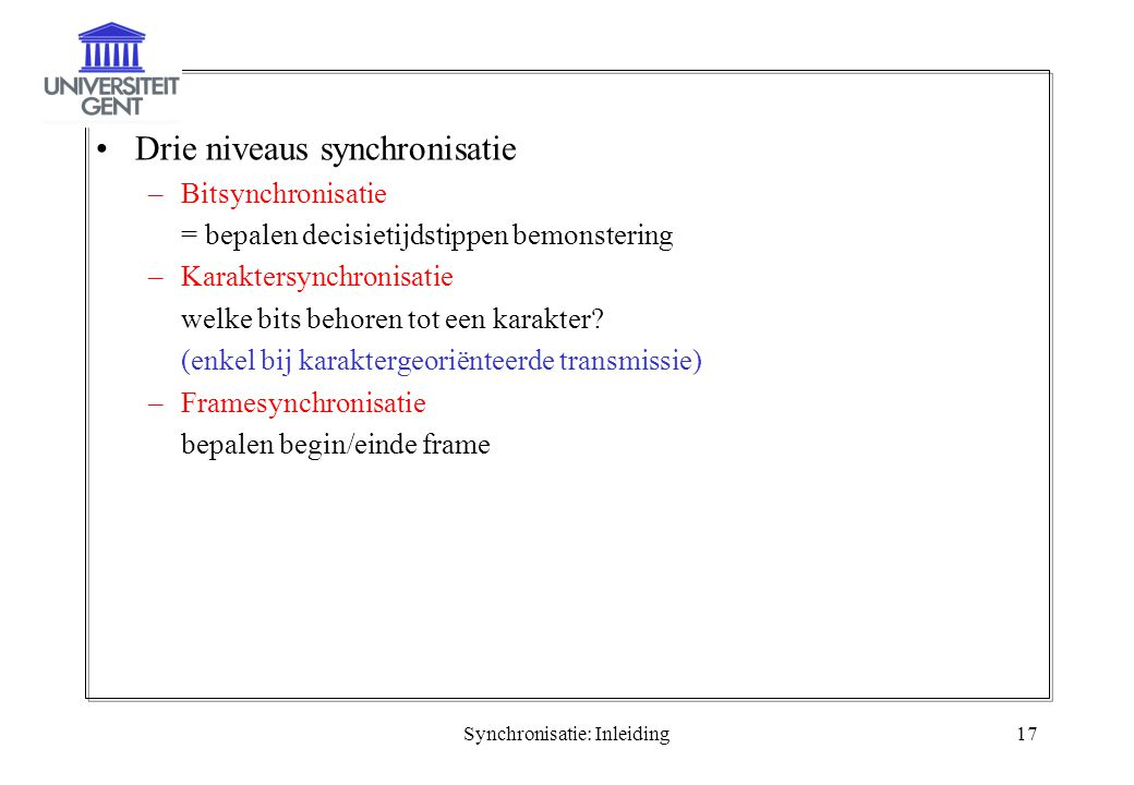 Synchronisatie: Inleiding
