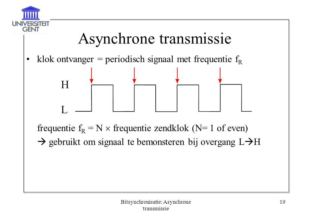 Asynchrone transmissie