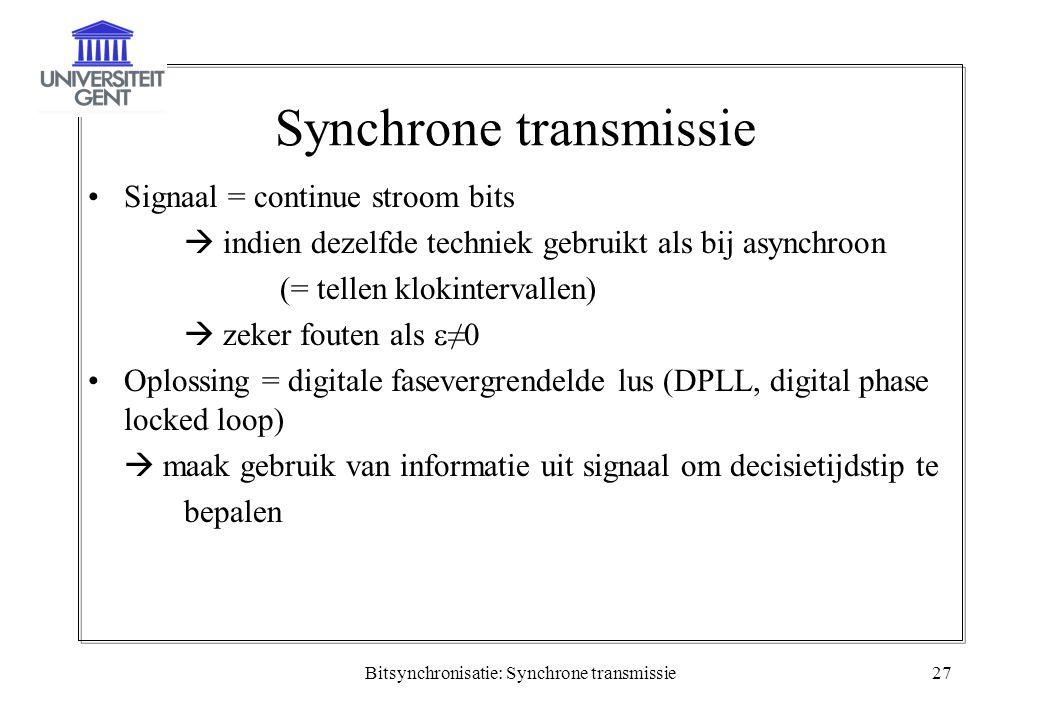 Synchrone transmissie